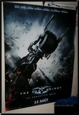 "HUGE Original 2008 BATMAN THE DARK KNIGHT French Advance Banner D/S 57"" X 76"" #2"