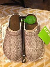 Crocs Classic Slipper Stucco Walnut Soft Textile Warm Slip Womens Size 8
