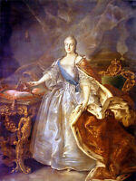 Oil painting Ivan Argunov - Portrait of Catherine II of Russia noble lady canvas