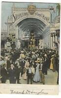 Postcard Steeple Chase Funny Place Bowery Entance Coney Island NY 1909