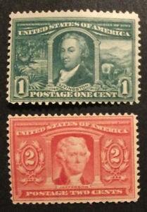 TDStamps: US Stamps Scott#323 324 Mint H OG