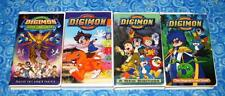 Digimon The Movie and Digital Monsters Anime Series 4 VHS Tape Lot Dub Excellent