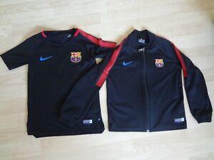 Nike F C Barcelona t shirt + zipped top age 6-8 yrs + free shorts