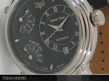 Trias XXL Uhr Local Time und 2 retrograden Zeitzonen Automatik + 2 Quarzwerke