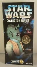 "Star Wars Collector Series greedo 12"" Figure 1997  boxed"