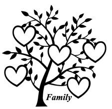 Árbol de corazón familia 5 nombres Calcomanía Vinilo Sticker Ikea Ribba Caja Regalo de elaboración de marco