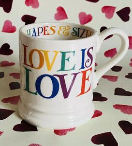 EMMA BRIDGEWATER VALENTINE'S DAY RAINBOW TOAST LOVE IS LOVE 1/2 PINT MUG - NEW