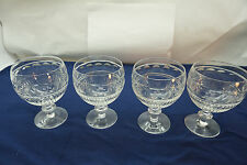 WEBB CORBETT CRYSTAL GOBLETS WATER GLASSES SET 4 THUMBPRINT WEC19 CUT GLASS