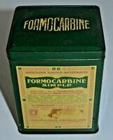ANCIENNE BOITE METAL LITHOGRAPHIE MEDICAMENT PHARMACIE FORMOCARBINE