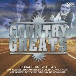 COUNTRY GREATS 32 TRACKS VARIOUS ARTISTS -  NEW & SEALED 2CD - FREE POST IN UK