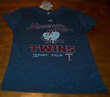 WOMEN'S TEEN MINNESOTA GIRLS LOVE THE TWINS MLB BASEBALL T-shirt MEDIUM NEW TAG