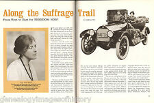 "Suffragist Sara Bard Field ""Along the Suffrage Trail"""