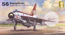 RAF signed cover 56 Sqn Lightning Firebirds cover signed Flt Lt Voller AV600