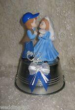 REDNECK HUMOROUS BUCKET OF LOVE WEDDING KISSING CAKE TOPPER