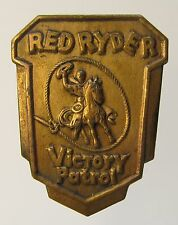 scarce 1944 Red Ryder Victory Patrol metal pinback badge metal Bread Premium