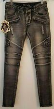 KouCla Women's Slim Skinny Denim Jeans,Washed Black, 36