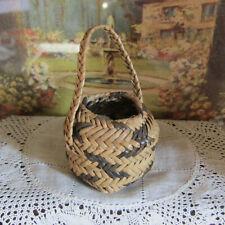 Antique Vtg Dollhouse HANDMADE BASKET Miniature Artisan Artist Native American?