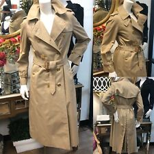 BURBERRY Ladies Khaki Trench Coat Size 8 LONG