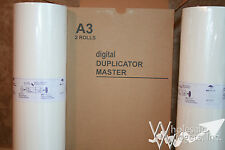 2 Master Rolls Compatible With Riso S-132 For Risograph GR 3710 3750 76W