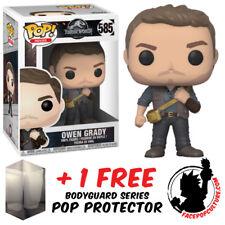 FUNKO POP JURASSIC WORLD 2 OWEN GRADY VINYL FIGURE + FREE POP PROTECTOR