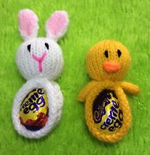 KNITTING PATTERN - Easter Bunny and Chick tree decoration Choc cover / Creme Egg