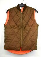 Vintage NOS Talon Mens Brown Orange Reversible Insulated Hunting Visibility Vest