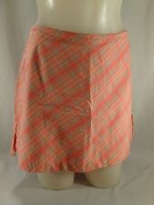 Womens B. Moss Orange Plaid Skort Mini Skirt Shorts Stretch Cotton Size 2 XS