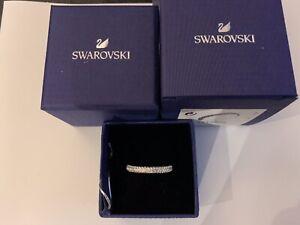NEW Swarovski 5412033 Stone Ring, Rhodium Plating, White, Size 60 RRP £69