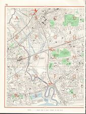 1964  VINTAGE LONDON STREET MAP - PLAISTOW,CANNING TOWN,POPLAR,BROMLEY