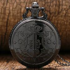 Vintage Kuroshitsuji Black Butler Sebastian Anime Pocket Watch Necklace Men Gift