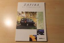 01317) Opel Zafira CNG Prospekt 09/2000