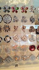 Joblot De 18 Pares Mixtas Diseño Diamante Aretes-Nueva venta por mayor Lote E