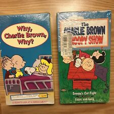 Lot: 2 NEW Vtg VHS Peanuts Why Charlie Brown Why Leukemia Cancer Snoopy Show 90s