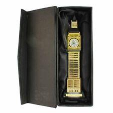 More details for london gold big ben crystal glass british souvenir with led light clock 24 cm