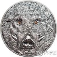 WILD BOAR Wildlife Protection 1 Oz Silver Coin 500 Togrog Mongolia 2018