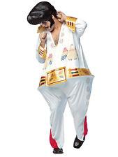 The King Hoopster Halloween Costume Men Adult Funny Elvis Jumpsuit Musician Std