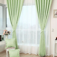 Stars Shading Window Curtain Heavy Thick Grommet Panel Bedroom Living Room
