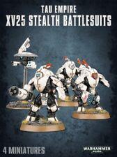 WARHAMMER 40K Tau Empire XV25 Stealth battlesuits X3 con dei droni nuovo senza confezione