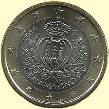 SAN MARINO  1 € Euro circulation coin  2014 uncirculated coin from roll