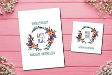 Hen party accessories- kiss the miss print and greeting card package bride tribe