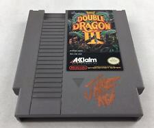 Nintendo (NES) Double Dragon III AVGN James Rolfe Orange Autograph Cart