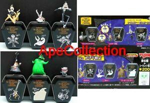 SET 6 Figure Con SCATOLETTA BARA METALLO Serie 2 NIGHTMARE BEFORE XMAS Yujin