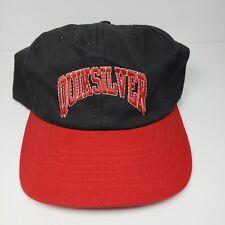 Quicksilver Black Red Hat Snapback Adjustable Cap Spellout