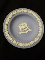 Small Wedgwood Jasperware Plate City Of London Blue  Made in England 4.5""
