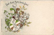 AK 1908 JENA STUDENTIKA NIL ADMIRARI BURSCHENSCHAFT WAPPEN
