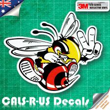 JDM Bee Sting Hornet Bumblebee Car Drift Sticker Vinyl Reflective Decal 120mm