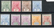 British Honduras 1891-1901 values to 25c MH