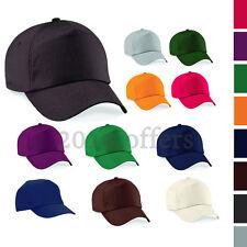 Plain Baseball Cap with Adjustable Velcro fastener. Mens Ladies Black Navy Hats