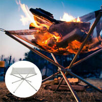 Folding Mesh Fire Pit Portable Fire Pit Bonfire Stand Outdoor Camping Patio UK