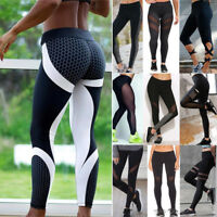 Sexy Women Hollow Yoga Fitness Leggings Running Gym Stretch Sport Pants Trousers